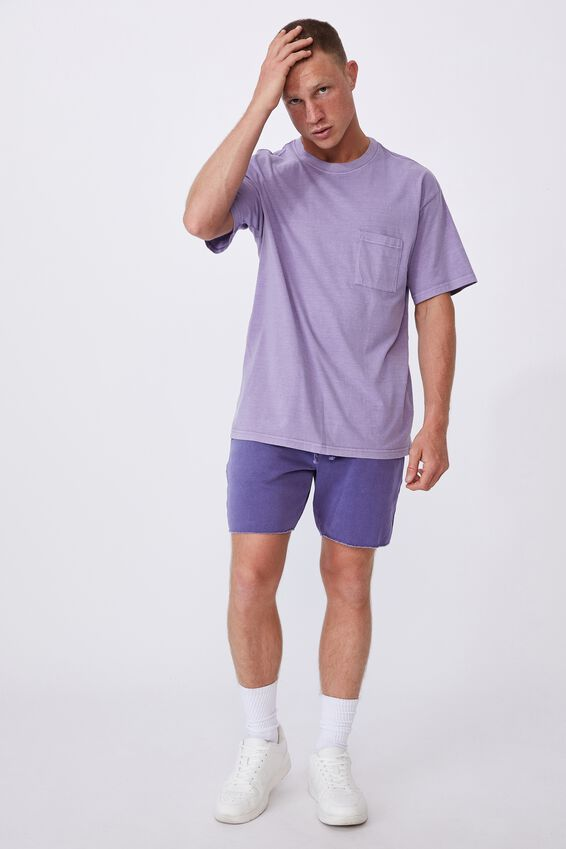 Washed Pocket T-Shirt, VIOLET DAZE