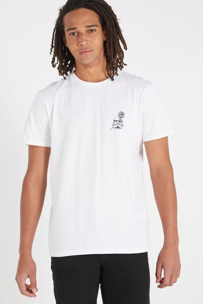 Tbar Collaboration Tee, LC WHITE/IMPERIAL STORM