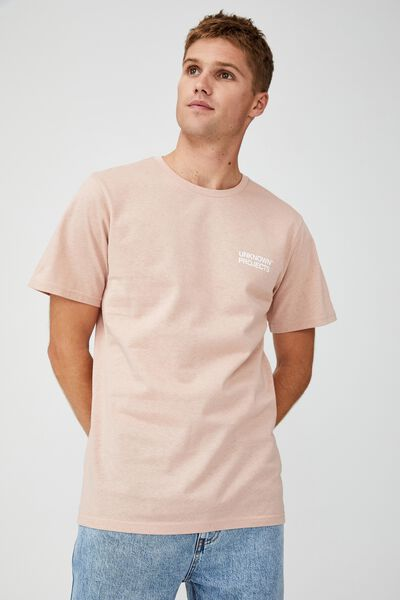 Tbar Text T-Shirt, DIRTY PINK/UNKNOWN PROJECTS