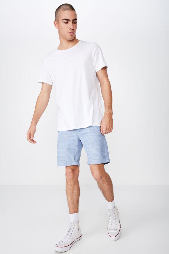 Washed Chino Short, BLUE CHAMBRAY