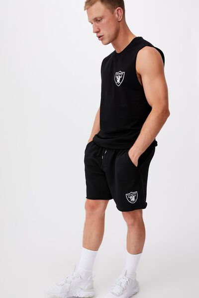 Active Nfl Fleece Short, LCN NFL BLACK/RAIDERS