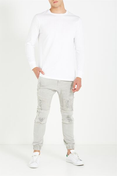 Slim Denim Jogger, BONE DECON