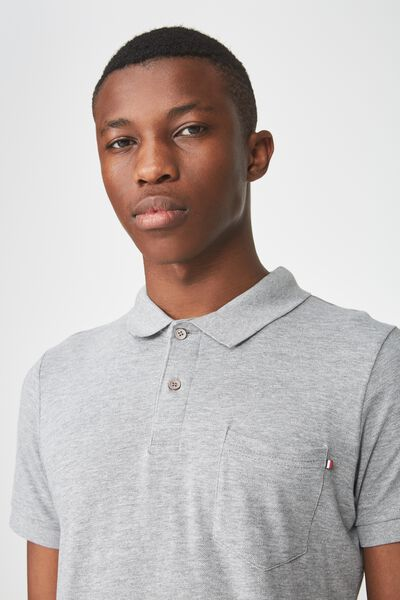 Icon Polo, GREY MARLE/POCKET
