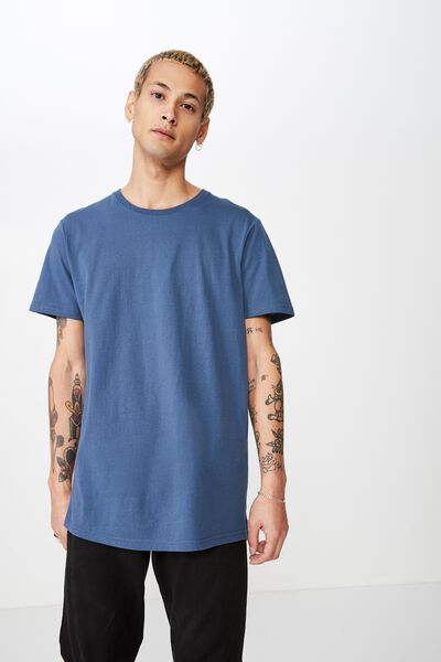 Essential Longline Curved Hem, MOONLIGHT BLUE