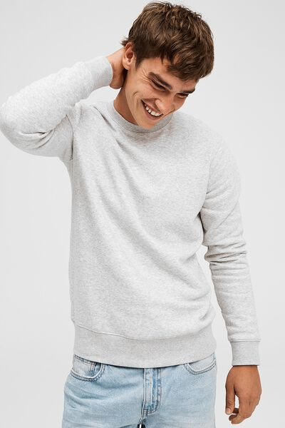 Essential Crew Fleece, LIGHT GREY MARLE
