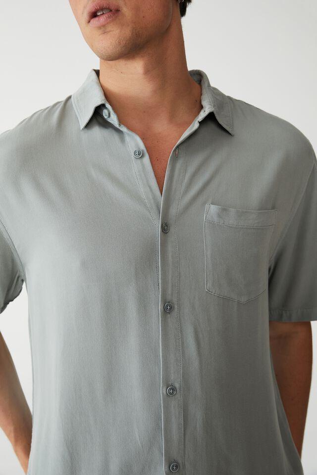 Cuban Short Sleeve Shirt, MUTED TEAL