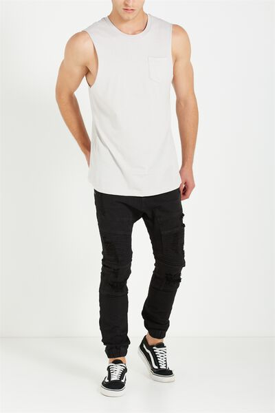 Slim Denim Jogger, BLACK IRIS DECON
