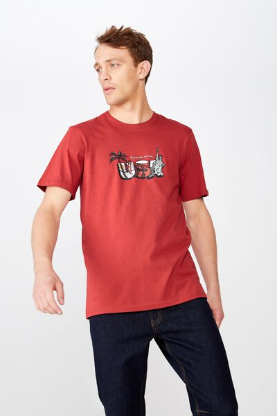 4Th July T-Shirt, RACE RED/USA POSTCARDS