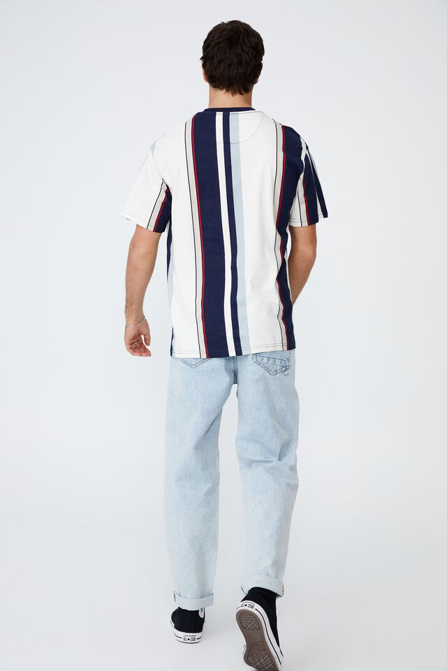 Downtown T-Shirt, NAVY EAST END STRIPE
