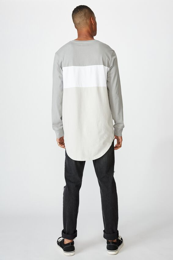 Long Sleeve Curved Hem, SLATE STONE/WHITE/SMOKE/NEW STATES PROJECTS