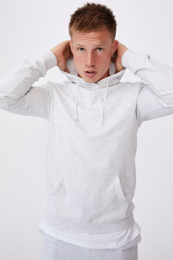 Essential Fleece Pullover, ATHLETIC MARLE