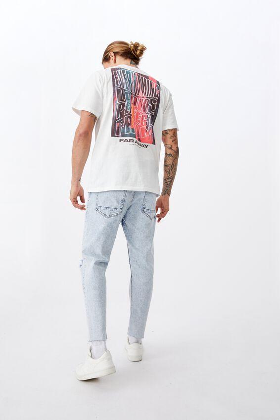 Tbar Art T-Shirt, VINTAGE WHITE/FAR AWAY