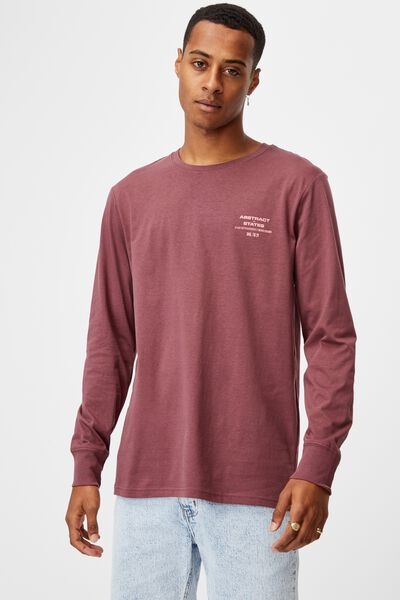 Tbar Long Sleeve T-Shirt, AGED WINE/ABSTRACT INT