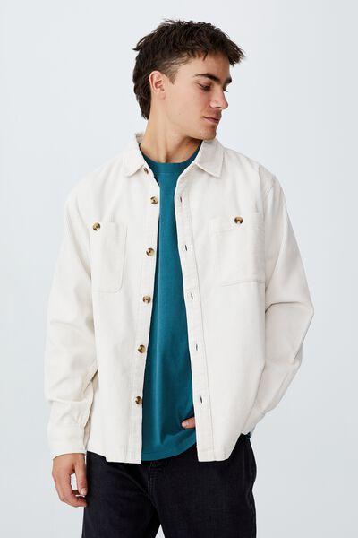 Heavy Overshirt, OFF WHITE