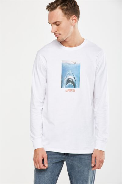 Tbar Collaboration Ls Tee, LC WHITE/JAWS