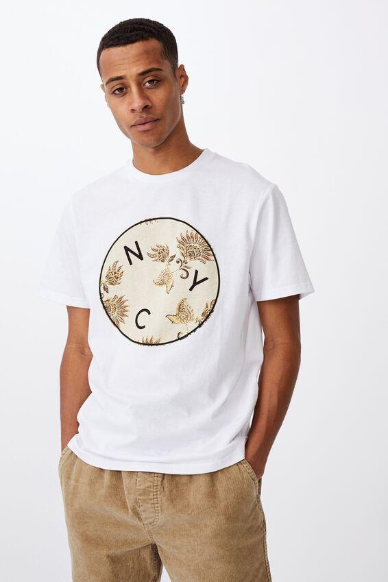 Tbar Street T-Shirt, WHITE/NYC INFILL