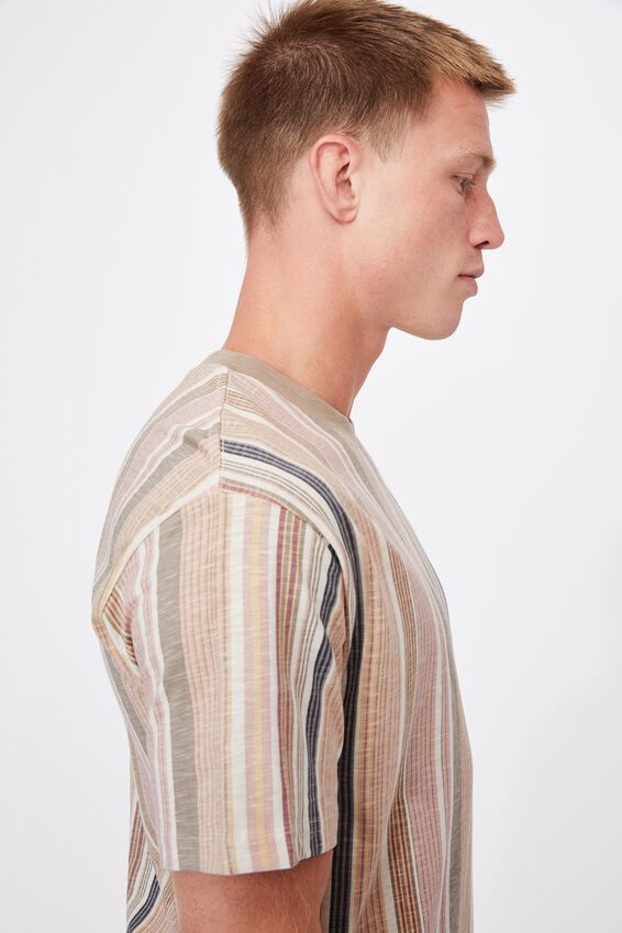 Downtown T-Shirt, NATURAL MADRAS STRIPE