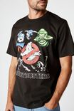 Tbar Collab Movie And Tv T-Shirt, LCN SON WASHED BLACK/GHOSTBUSTERS - GHOSTS