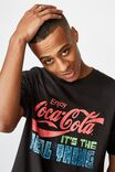 Tbar Collab Pop Culture T-Shirt, LCN CC WASHED BLACK/COCA COLA - ALWAYS FRESH