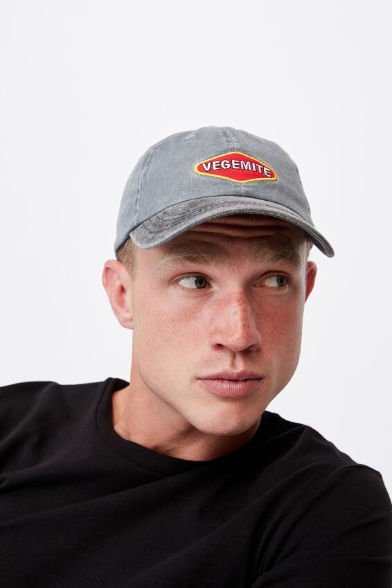 Special Edition Dad Hat, LCN VEGEMITE/WASHED BLACK