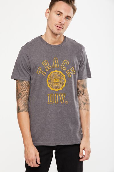 Tbar Tee 2, CHARCOAL MARLE/TRACK DIV