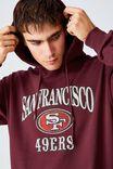 Active Nfl Oversized Pullover, LCN NFL BURGUNDY/SAN FRANSISCO 49ERS