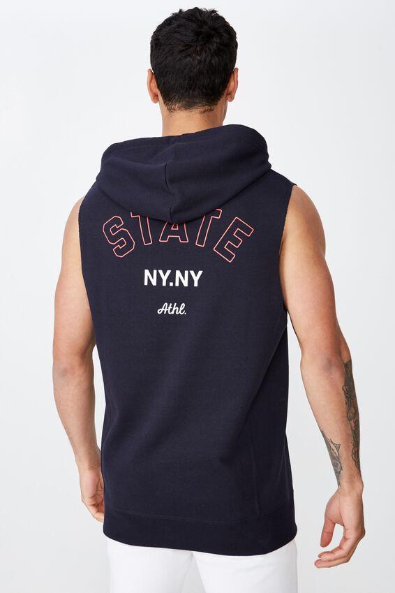 Sleeveless Hood, INK NAVY/STATE NY.NY