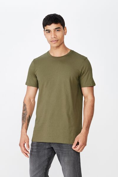 Essential Crew Tee, JUNGLE KHAKI