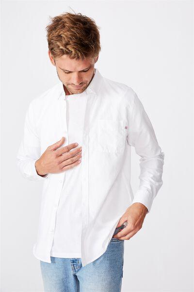 Brunswick Shirt 3, WHITE OXFORD