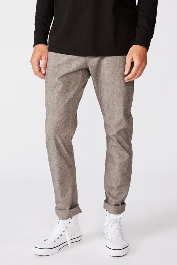 Skinny Stretch Chino, BROWN PRINCE OF WALES