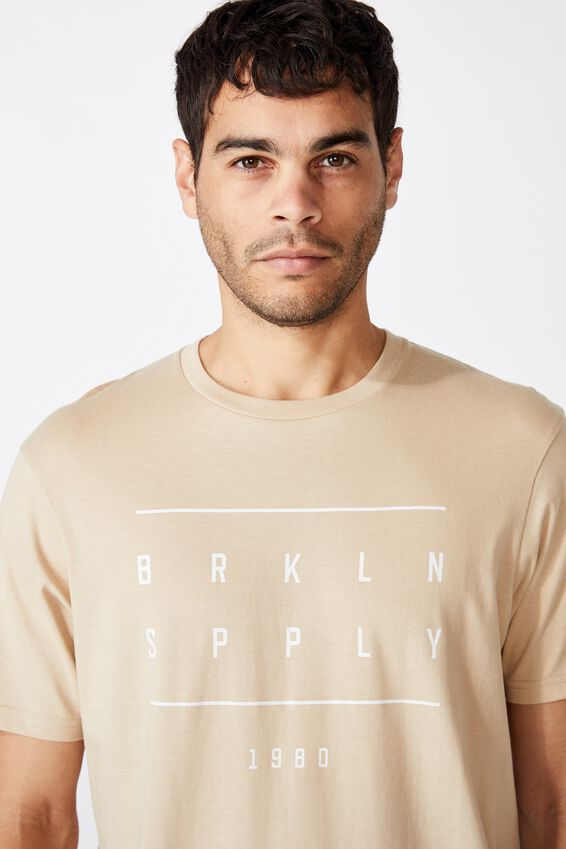 Tbar Urban T-Shirt, CLAY STONE/BRKLYN SPPLY 1980