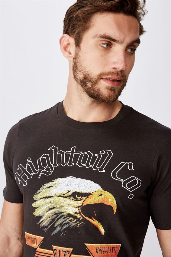 Tbar Moto T-Shirt, SK8 WASHED BLACK/HIGHTAIL CO.