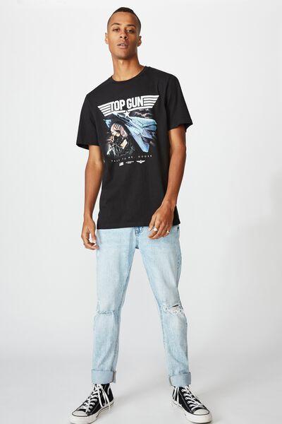 Tbar Collab Movie And Tv T-Shirt, LCN PAR BLACK/TOPGUN-GOOSE BLACK