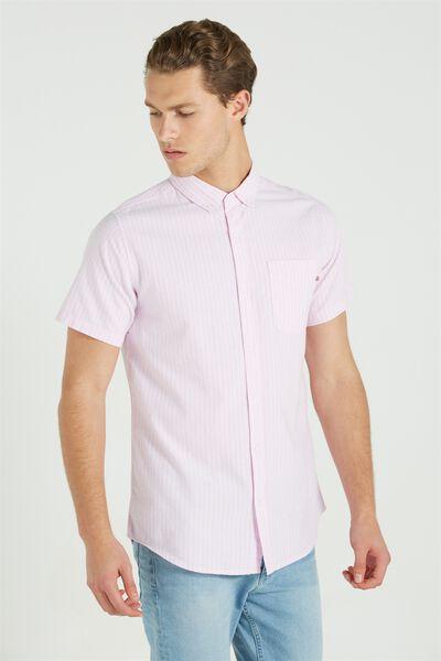 Vintage Prep Short Sleeve Shirt, PINK/WHITE STRIPE