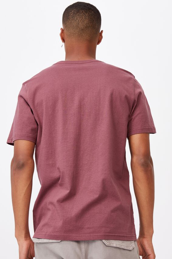 Essential Crew T-Shirt, AGED WINE