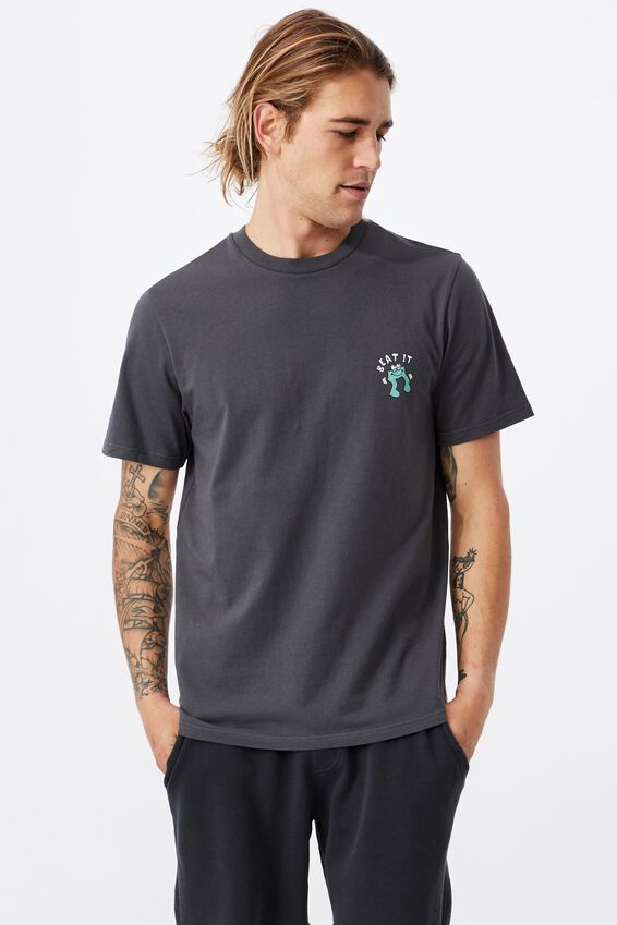 Tbar Art T-Shirt, FADED SLATE/BEAT IT