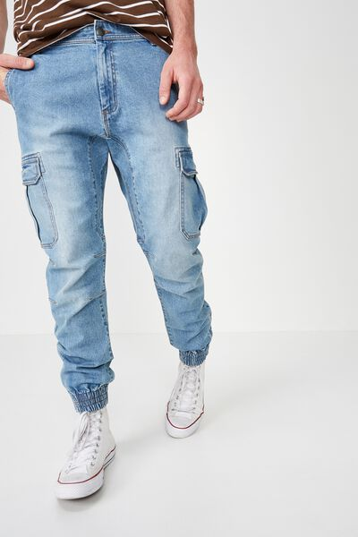 Urban Jogger, WASHED DENIM CARGO