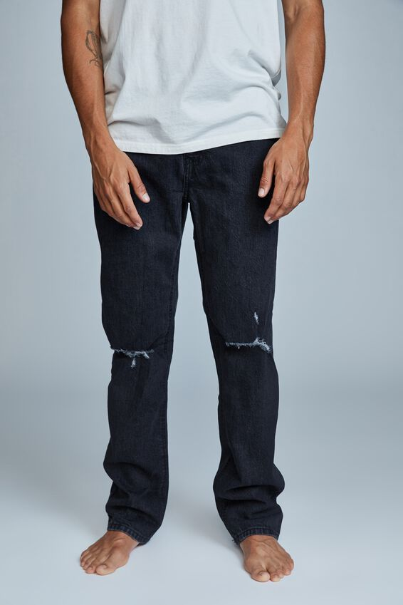Beckley Straight Jean, VINTAGE BLACK THRASHED
