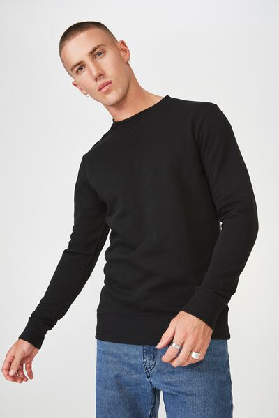 Crew Fleece 2, BLACK