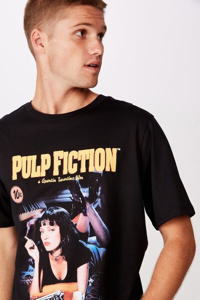 Tbar Collab Movie And Tv T-Shirt, LCN MIR SK8 BLACK/PULP FICTION - MIA WALLAC