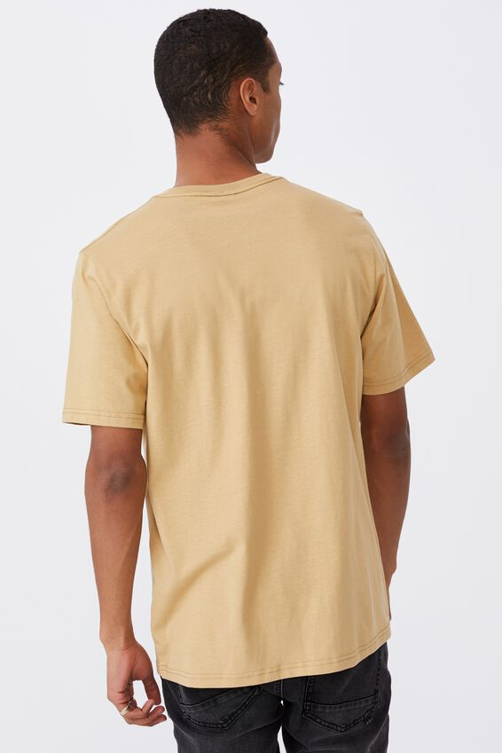 Tbar Art T-Shirt, LIGHT CAMEL/HOLDING ON