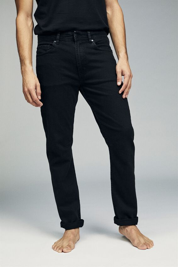 Tapered Leg Jean, WORN IN BLACK