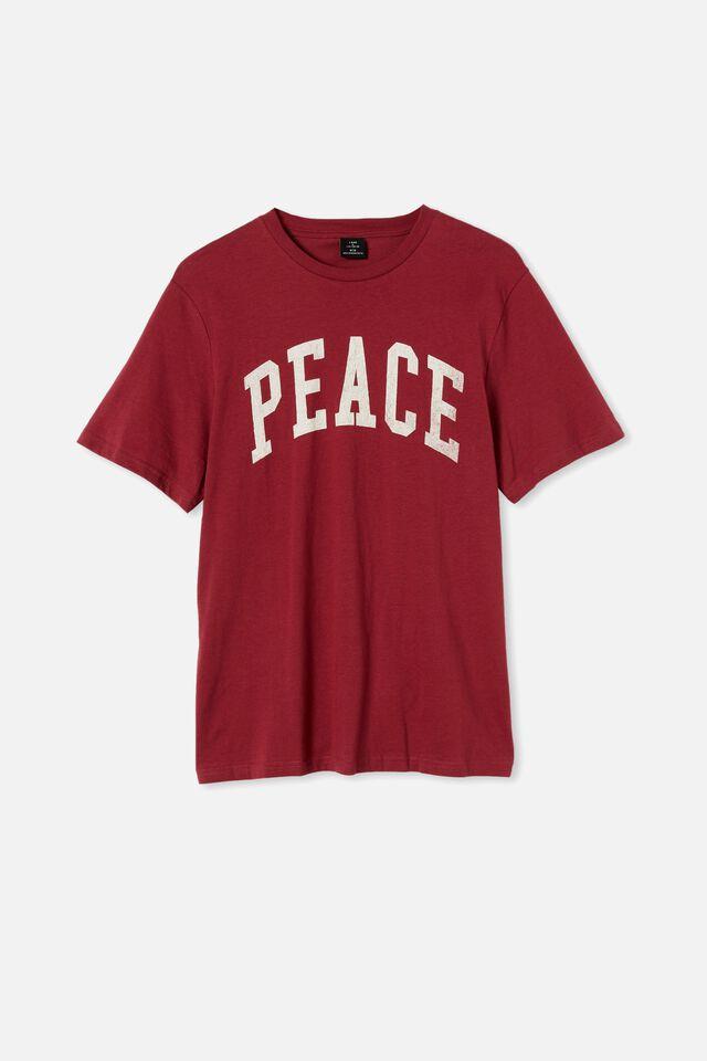 Tbar Sport T-Shirt, ROSEWOOD/PEACE