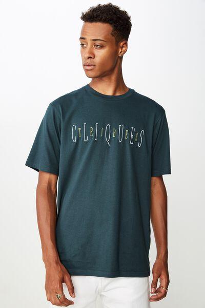 Tbar Urban T-Shirt, DEEP SEA TEAL/CLIQUES TRIBES