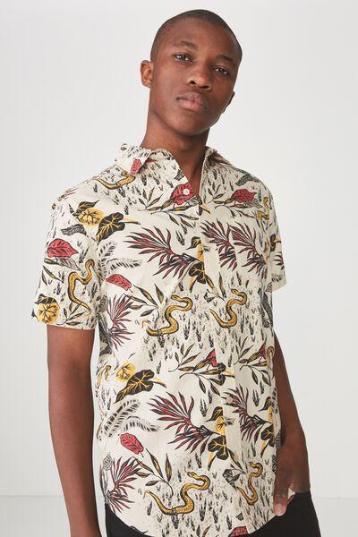 Vintage Prep Short Sleeve Shirt, SNAKE IN THE GRASS