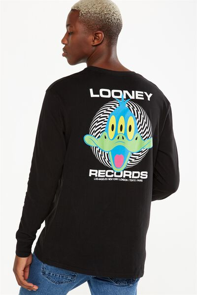 Tbar Collaboration Ls Tee, LC BLACK/LOONEY RECORDS
