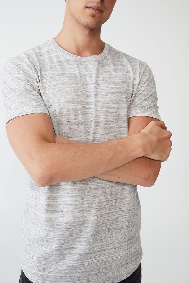 Curved Hem T-Shirt, GREY SPACE MARLE
