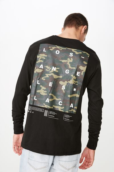 Tbar Long Sleeve, BLACK/LA CA