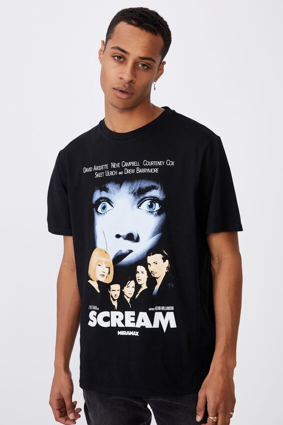 Tbar Collab Movie And Tv T-Shirt, LCN MIR BLACK/SCREAM-POSTER
