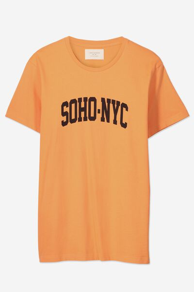 Tbar Tee 2, CALI ORANGE/SOHO NYC